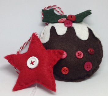 Felt Christmas Decorations from £2.50