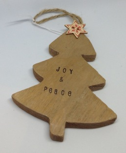 Wooden Christmas Decoration from £3.50